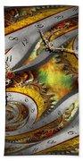 Steampunk - Spiral - Space Time Continuum Beach Sheet