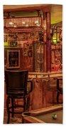 Steampunk Speakeasy Mancave Bar Art Beach Towel