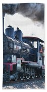 Steamtrain To Carltoncreekhurst L B Beach Towel