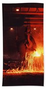 Steel Mill--china Beach Towel
