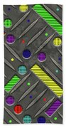 Steel Plate Geometrics Beach Towel