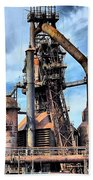 Steel Stacks Bethlehem Pa. Beach Towel