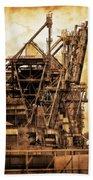 Steelmill Boatdock Cranes Detroit Beach Towel