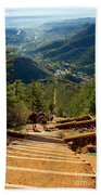 Steep Manitou Incline And Barr Trail Beach Towel