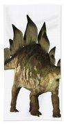 Stegosaurus Profile Beach Towel