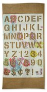Stencil Alphabet Fun Beach Towel