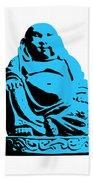 Stencil Buddha Beach Towel