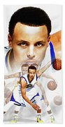Steph Curry 2017 Profile Beach Towel