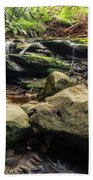 Stepping Cascade - Leura, Blue Mountains, Australia. Beach Towel