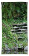 Steps In The Grass Beach Towel