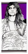 Steve Vai Sitting Beach Towel
