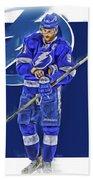 Steven Stamkos Tampa Bay Lightning Oil Art Series 2 Beach Sheet