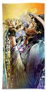Steven Tyler 01  Aerosmith Beach Towel
