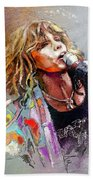 Steven Tyler 02  Aerosmith Beach Towel