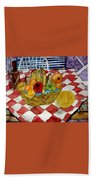 Still Life Art Fruit Basket 3 Beach Towel