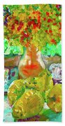 Still Life Flower Beach Towel