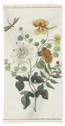 Still Life Of Flowers, Machtelt Moninckx, C. 1600 - C. 1687 Beach Towel
