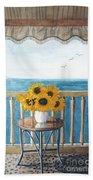 Still Life On A Patio Beach Towel