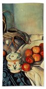 Still Life With Apples Beach Towel by Paul Cezanne
