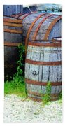 Still Life With Barrels Beach Towel