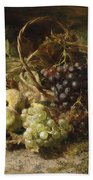 Still-life With Grapes And Pears Beach Towel