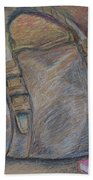 Still Life With Handbag And Notepad Beach Towel