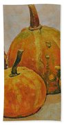 Still Life With Pumpkins Beach Towel