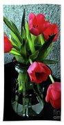 Still Life With Tulips Beach Towel