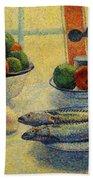 Stilleven Met Vis 1885 Beach Towel