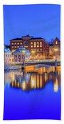 Stockholm Blue Hour Postcard Beach Sheet