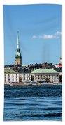 Stockholm From Lake Malaren Beach Towel