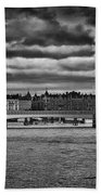 Stockholm In Black And White Beach Towel