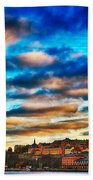 Stockholm In Bold Colors Beach Towel