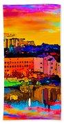 Stockholm Reflective Art Beach Towel