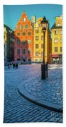 Stockholm Stortorget Square Beach Towel