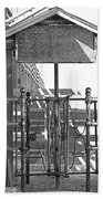 Stockyard Gate Black And White Beach Towel