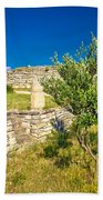 Stone Artefacts Of Asseria Ancient Town Beach Towel