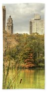 stone bridge in Central Park Beach Towel