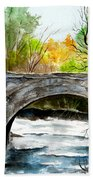 Stone Bridge In Maine  Beach Towel