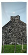 Stone Building Maam Ireland Beach Towel
