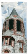 Stone Church Bell Tower Beach Towel by Dominic White
