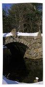 Stone Double Arched Bridge - Hillsborough New Hampshire Usa Beach Towel
