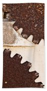 Stone Eater In Lime Stone Quarry - Lithica Beach Towel