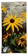 Stone Flowers Black Eyed Susan Beach Sheet