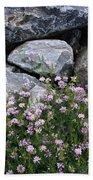 Stone Flowers Pink Beach Sheet