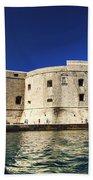Stone Fortress In Dubrvnik King's Landing Beach Towel