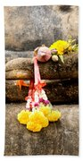 Stone Hand Of Buddha Beach Towel by Adrian Evans
