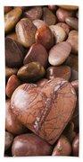 Stone Heart Beach Towel by Garry Gay
