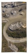 Stone Quarry Aerial Beach Towel