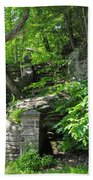 Stone Stairway Along The Wissahickon Creek Beach Towel